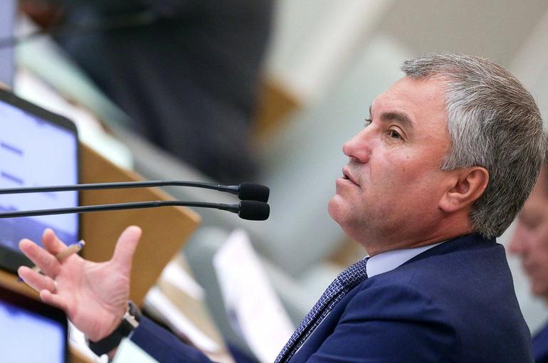 Володин предложил разработать рамочные нормы для регулирования деятельности IT-компаний