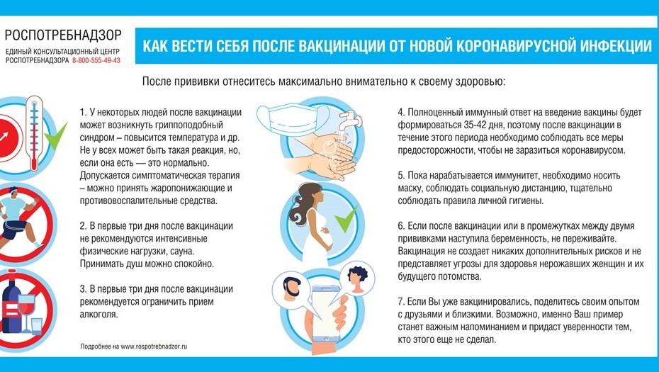 Душ, но без алкоголя: опубликованы рекомендации для привитых от коронавируса