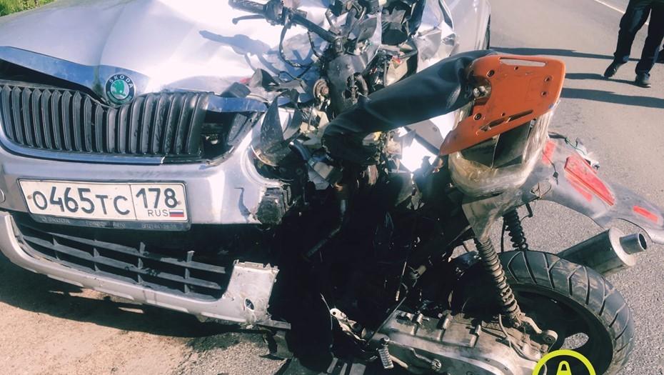 Два подростка на скутере погибли в результате ДТП под Всеволожском