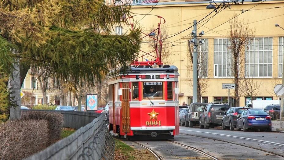 С 21 июня туристический трамвай будет работать в Петербурге ежедневно