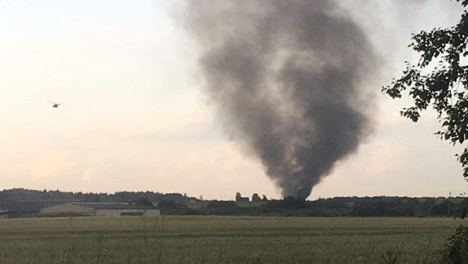 Вертолёт Ми-8 упал рядом с деревней Корпикюля в Ленобласти