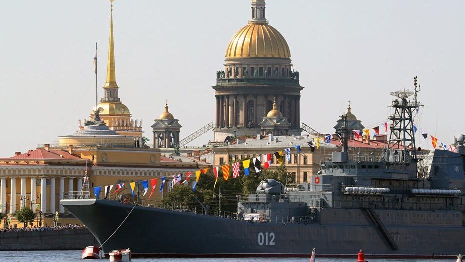 Фоторепортаж: как в Петербурге прошла репетиция военно-морского парада
