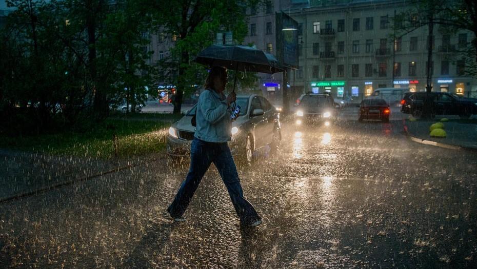 Петербургу пообещали три дня дождей и температуру ниже нормы