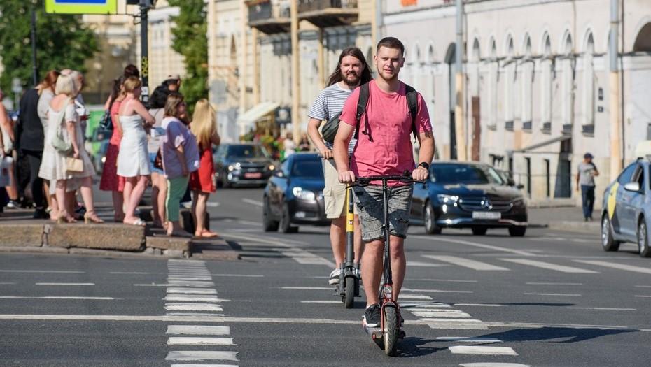В Петербурге стало меньше происшествий с электросамокатами