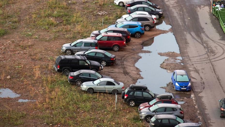 За хаотичную парковку во дворах петербуржцев оштрафуют автоматически