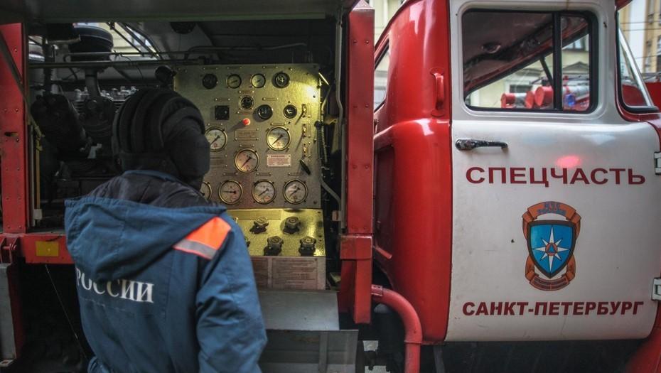 Пожарные спасли двух детей из горящей квартиры на Малой Балканской
